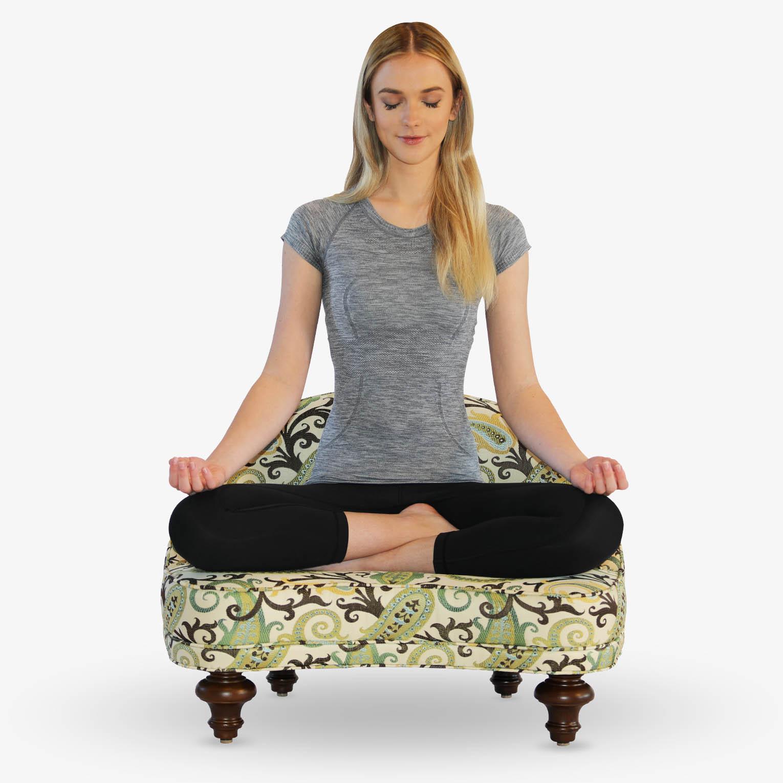 Woman Meditating on Anahata Meditation Chair