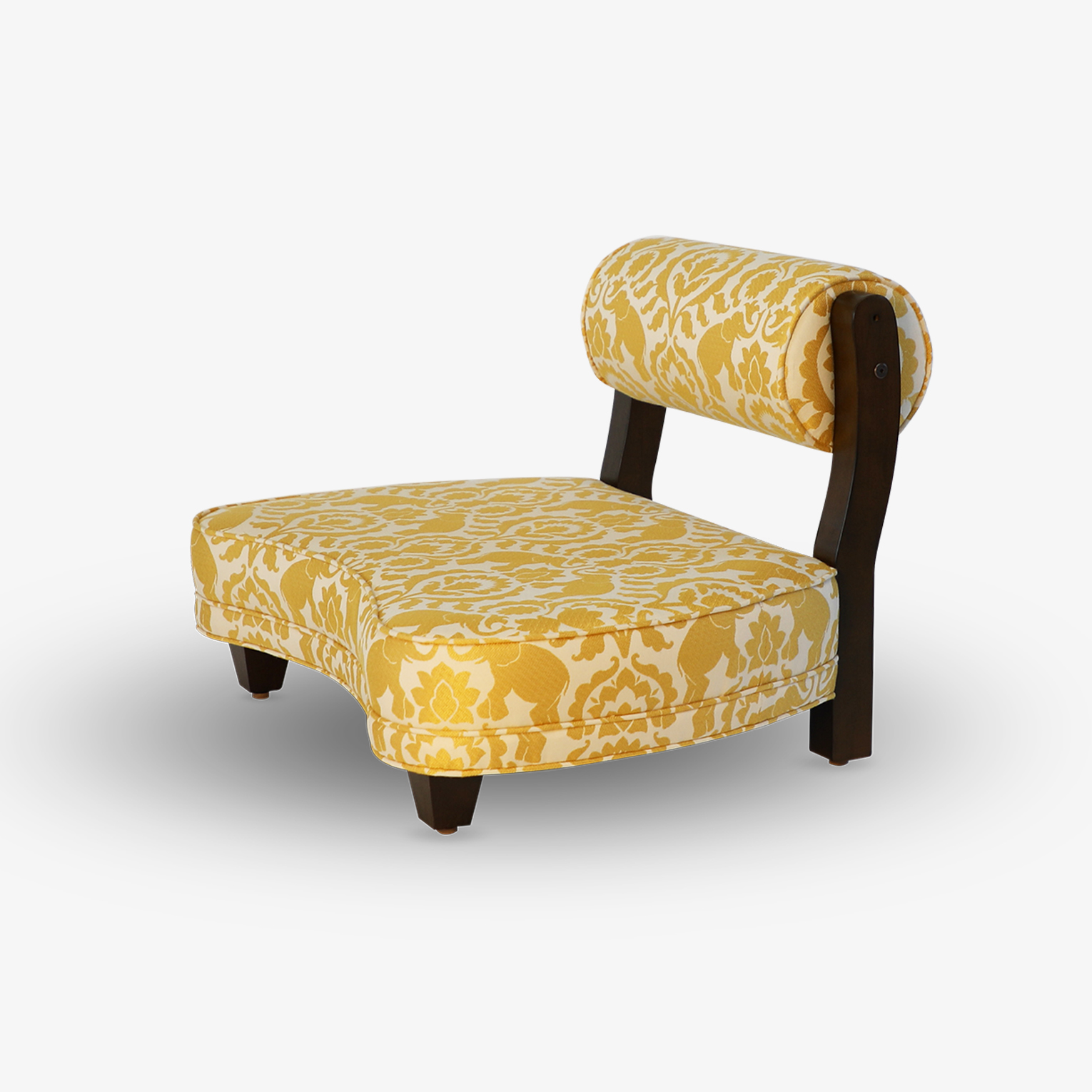 The Rama Meditation Chair in Sunshower Happy Elephants Fabric.